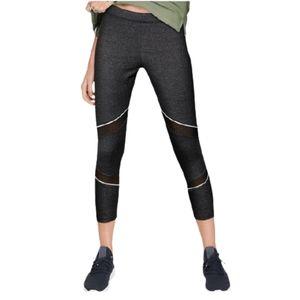 PINK Victoria's Secret Gray Mesh Ankle Leggings L